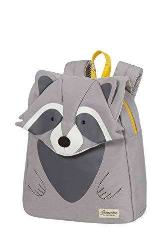 Samsonite Happy Sammies Eco - Mochila Infantil S, 27.5 cm, 7.5 L, Gris (Raccoon Remy)