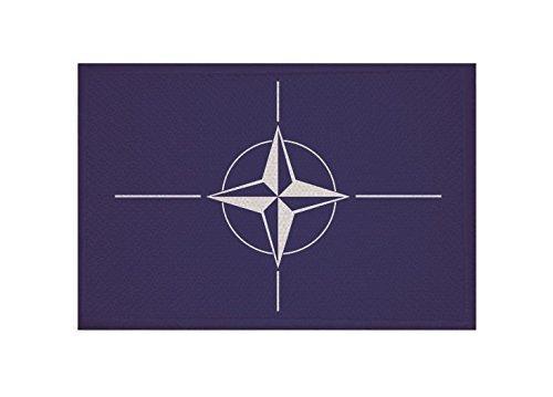 UB Aufnäher NATO Flagge/Fahne Aufbügler Patch 9 cm x 6 cm Neuware!!!