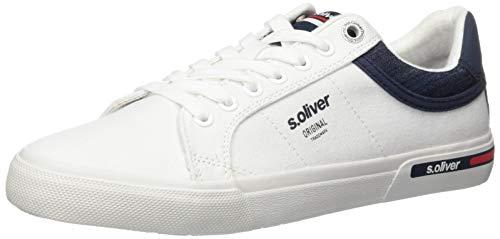 s.Oliver Herren 5-5-13604-24 Sneaker, Weiß (White 100), 42