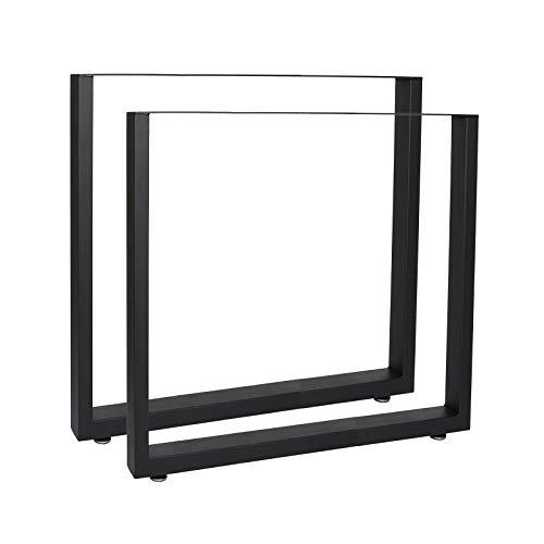 Bastidores para mesa 70x72 cm Recubrimiento polvo negro