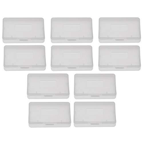 Caja de Juego de Cartucho de Cubierta Antipolvo Transparente de 10 Piezas para Nintendo Game Boy Advance GBA, 6,5 x 4 x 0,8 cm