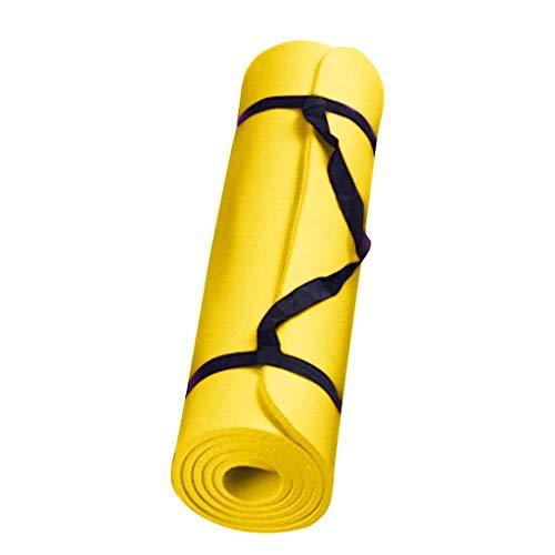 Btruely Gymnastikmatte, Yogamatte Fitnessmatte Gepolstert & rutschfest mit Tragegurt für Fitness Pilates & Gymnastik Maße 183cm Länge 60cm Breite 0.4cm Stärke