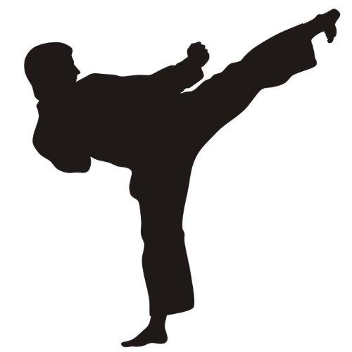das-label Karate Autoaufkleber Sportaufkleber weiß