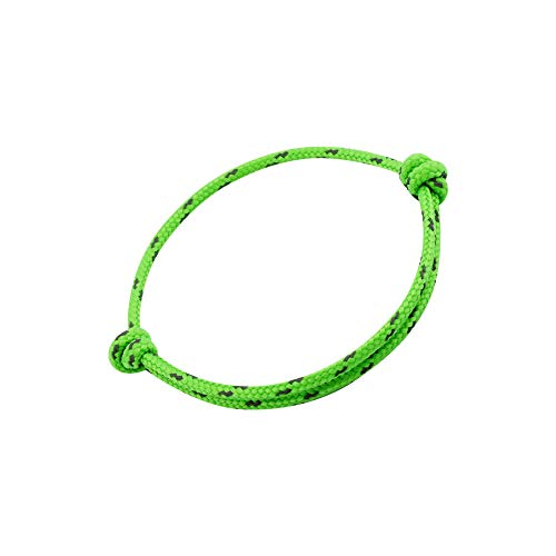 GLANZWEAR Reflect Surfer Bracelet Men's Women's Rope Bracelet, Nylon Sailing Knot Sailing Rope Surfer Bracelet, Friendship Bracelet, Partner Bracelets for Women and Men, Paracord neon green