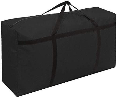 WITERY grande borsa portaoggetti 120 L con cerniera impermeabile resistente 600D Oxford per traslochi vestiti, borse organizer per biancheria da letto, piumini, cuscini, vestiti e trasferimenti a casa