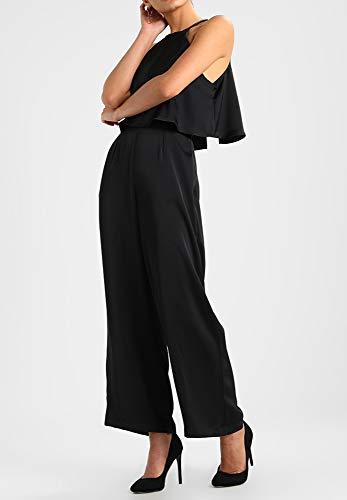 Even&Odd Jumpsuit da Donna - Tuta Leggera Senza Spalle con Gamba Larga - Completo Elegante, Nero, M