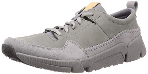 Clarks Herren TriActive Run Sneaker, Grau (Grey Nubuck), 43 EU