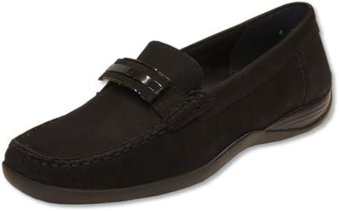 Ara Portland/ Portia Black Nubuck Loafer