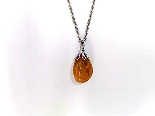 Colgante colgante collar Minerales piedras duras semipreciosas joyas artesanales (CITRINO)