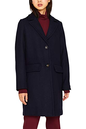 ESPRIT Damen 099Ee1G018S Mantel, Blau (Navy 400), Medium (Herstellergröße: M)
