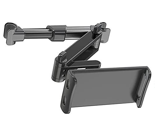 HANYEAL Soporte universal para reposacabezas de coche, extensible, compatible con teléfonos móviles de 4,7 a 12,9 pulgadas, extensible, color negro
