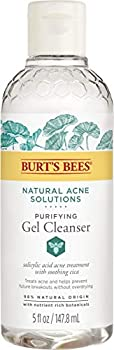 Burt's Bees Natural Acne Solutions Purifying Gel Cleanser and Face Wash