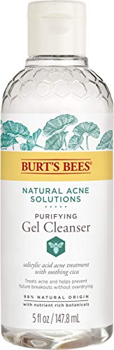 Burt's Bees Natural Acne Solutions Purifying Gel Cleanser, Face Wash for...
