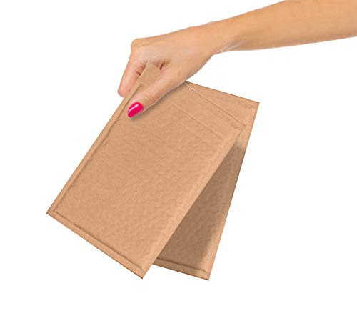 """ABC Pack of 10 Kraft Padded Bubble Mailers 10,16 x 17,78 cm Natural Brown Kraft Bubble Envelopes 4"""" x 7"""" Peel and Seal Envelopes Bulk Shipping Bags for Mailing Packing Moving Wholesale Price"""