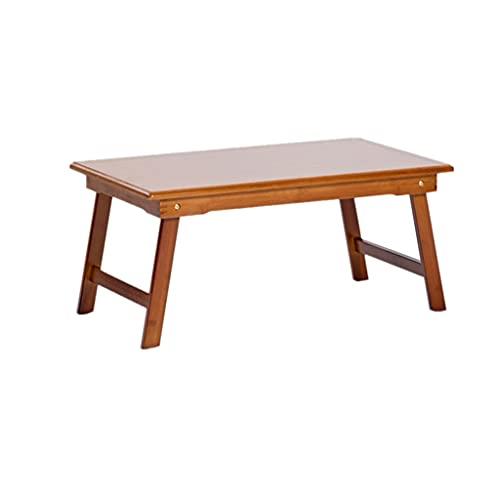 zlw-shop Kaffebord soffbord naturlig bambu hopfällbart tebord säng kontor kaffe sidobord litet skrivbord, används för sovrum vardagsrum balkong hylla display rack litet bord