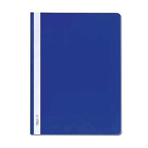 Original Falken Plastik-Schnellhefter. Aus PP-Folie für DIN A4 kaufmännische Heftung blau Hefter ideal für Büro und Schule