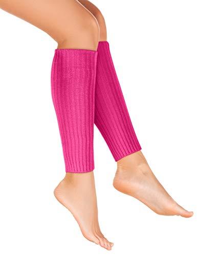 Balinco Strick-Stulpen | Beinstulpen | Damen & Mädchen Stuplen | Beinwärmer für den Alltag oder als Accessoire zum Karneval / Fasching (Pink)
