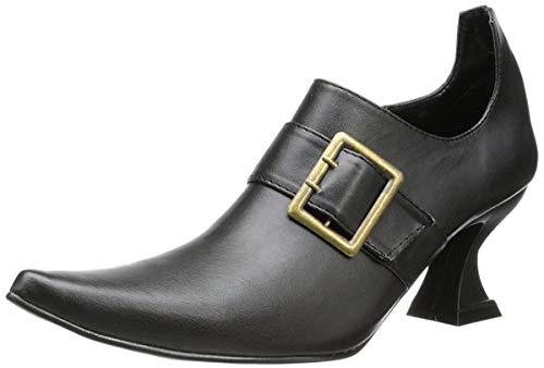 Ellie Shoes Women's 301 Hazel Witch Shoe, Black Polyurethane, 9 M US