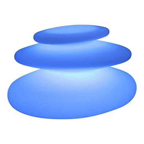 25cm Lampe de Table Design RGB + Télécommande - Lumière Moderne Rechargeable pour Intérieur Extérieur Jardin de PK Green
