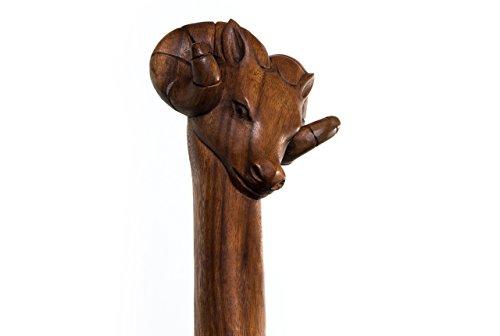 windalf Moyen-âge Randonnée Tige RAM Bélier H : 180 cm en bois