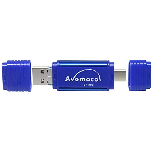Avomoco 3.1 128GB 3 in 1 High Speed Flash Drive for Android Smartphones with OTG Function,Tablets,Laptop,Desktop,Photo Stick for Samsung Galaxy,LG,Google Pixel,Hua Wei.Moto,One Plus,etc. (128GB)