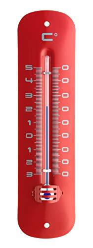TFA  Dostmann 12.2051.05Thermometer für Innen und Außen, wetterfest, rot, metallisiert