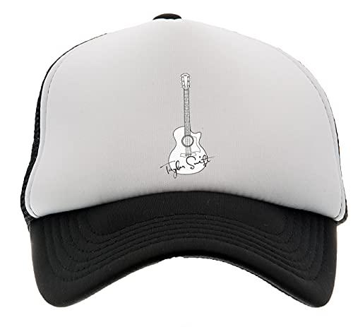 Enigmae Músico Taylor Nombre Guitarra Gorra de Beisbol Sombrero Niños Niños Niñas Frente de Espuma Espalda de Malla Negro Baseball Cap