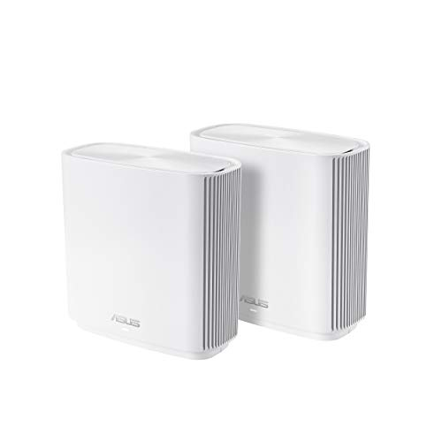 ASUS ZenWiFi AC3000 Tri-Band Mesh WiFi System (CT8 2PK) – Whole Home Coverage up to 5400 sq.ft & 4+ rooms, AiMesh, Included Lifetime Internet Security, Easy Setup, 3 SSID, Parental Control, White