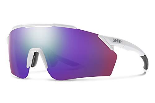 Smith Optics Ruckus ChromaPop Sunglasses, Matte White/Chromapop Violet Mirror, One Size