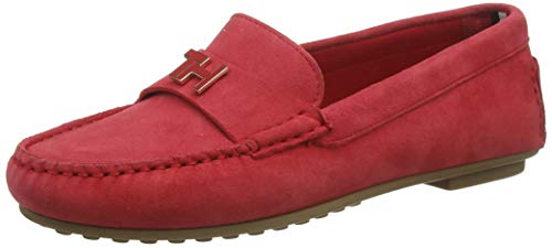 Tommy Hilfiger Damen TH Hardware Mocassin Pumps, Rot (Primary Red XLG), 38 EU