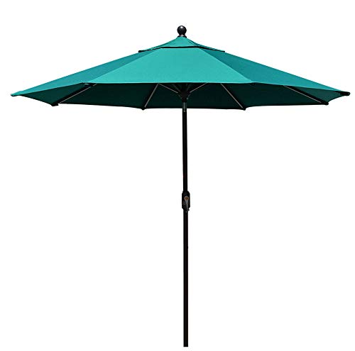 EliteShade Sunbrella 9Ft Market Umbrella Patio Outdoor Table Umbrella with Ventilation and 5 Years Non-Fading Top,Teal