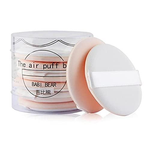 Paquet de 8 Ultra-Soft Makeup Foundation Sponge Coussin d'air Coussin de maquillage Makep Set Cosmétic Beauty Tool Mélangeur Éponge pour la crème liquide et la poudre (beige)