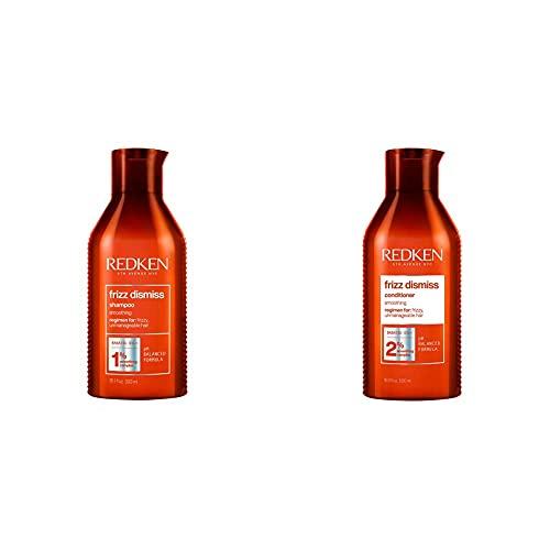 Redken Frizz Dismiss Shampoo 300Ml + Balsamo 300Ml   Routine Professionale Nutriente Anti-Crespo per Capelli da Normali a Crespi