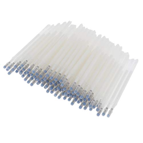 IPOTCH 100x Rotular de Tela Borrable por Calor Pluma de Tinta Bolígrafo de Textibles para Costura de Manualidades - Blanco