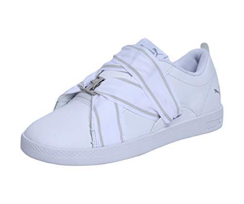 Puma SMASH WNS BUCKLE, Damen Sneaker, Weiß (PUMA WHITE-PUMA SILVER 02), 39 EU (6 UK)