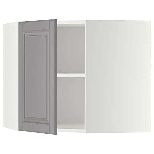 METOD armario esquinero de pared con estantes 67,5 x 67,5 x 60 cm blanco/gris Bodbyn