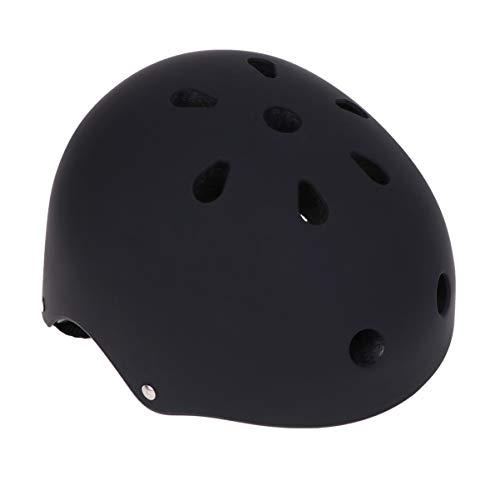 BESPORTBLE Skateboard Helm Veiligheid Fiets Racing Helm Hoofd Protector Voor Volwassenen Kinderen Jeugd Schaatsen Balans Bike Kruiwagen S 49-53cm Zwart