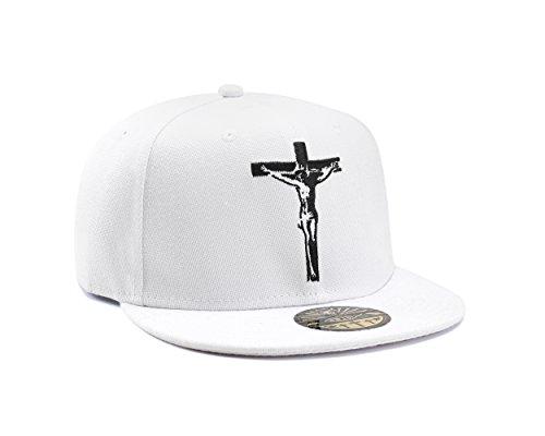 Jesus Christus Christian Kreuz weiß Snapback Baseball Cap von True Heads