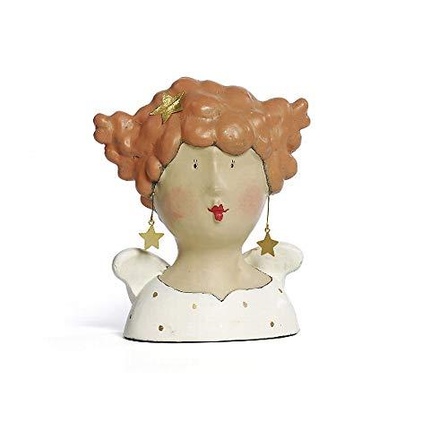 Baden Aufsteller Ladykopf Engel Stella mit Ohrring ca. 23 cm H