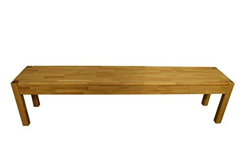 SAM Sitzbank Manchester, Wildeiche massiv & geölt, Esszimmerbank 183 x 34 cm, Holzbank für 4 Personen, pflegeleichtes Unikat