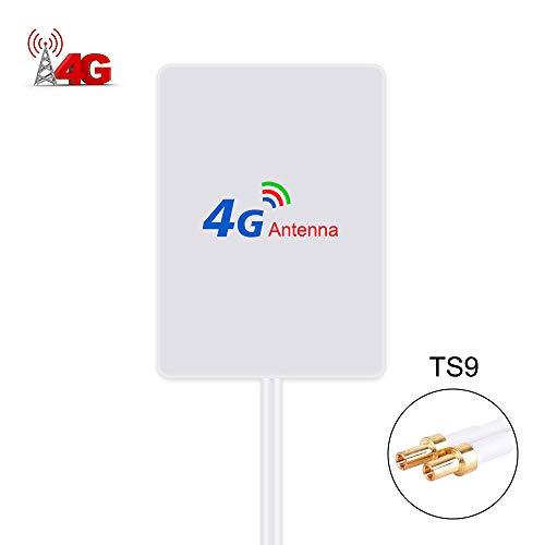 TS9 4G Hochleistungs LTE Antenne 15dBi WiFi Signal Booster Verstärker Modem Adapter Netzwerk Empfänger Antenne mit hoher Reichweite für Mobile Hotspots (TS9 Stecker Male)