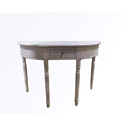 HTI-Line Konsole Preston halbrund Telefontisch Flurtisch Sideboard Beistelltisch Dekotisch Konsole