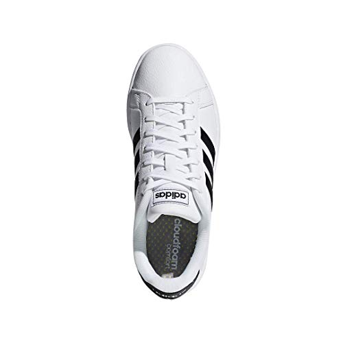 adidas Women's Grand Court, Black/White, 7 M US