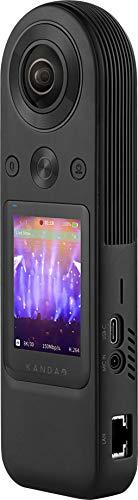 KANDAO Videocamera QooCam 8K HDMI full view per eventi live live streaming 5G supporto fotocamera digitale, webcam conforme a Skype, WebEx, Zoom.