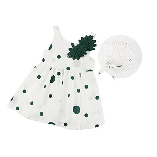 SunshineFace bebé bebé vestido de lunares con sombrero de sol de la...