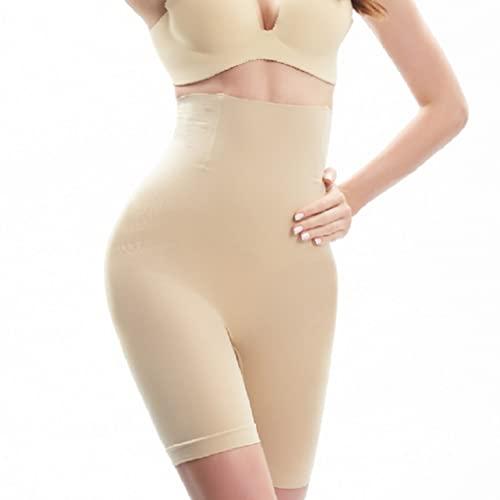 SOLO ACTFIT Pantalones Cortos para Mujer Faja Reductora Ropa Interior Cintura Alta Pantalones Moldeadores Adelgazante Shapewear (Beige, S)