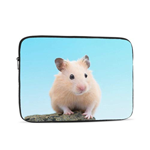 Macbook Pro Laptop Cute Hamster On A Stone 12inch Macbook Case Multi-Color & Size Choices 10/12/13/15/17 Inch Computer Tablet Briefcase Carrying Bag