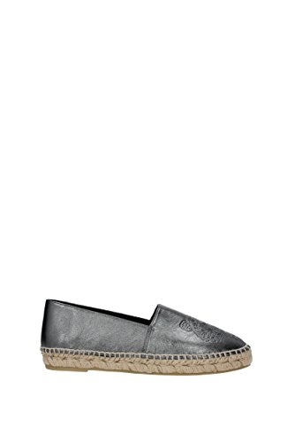 KENZO TIGER METALIC SYNTHETIC LEATHER Espadrilles dames Zwart Espadrilles