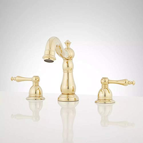Signature Hardware 921451 Enid 1.2 GPM Widespread Bathroom Faucet with Drain Assembly
