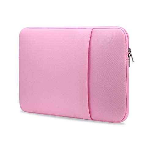 B2015 Laptop Sleeve Soft Pouch 15'' Laptop Bag Replacement for MacBook Air Pro Ultrabook Laptop Pink